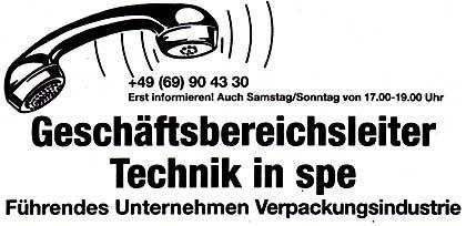 """Mit Schachtelsätzen groß geworden: Anzeige der Baumann Unternehmensberatung, """"Frankfurter Allgemeine Zeitung"""", 17.4.2004"""