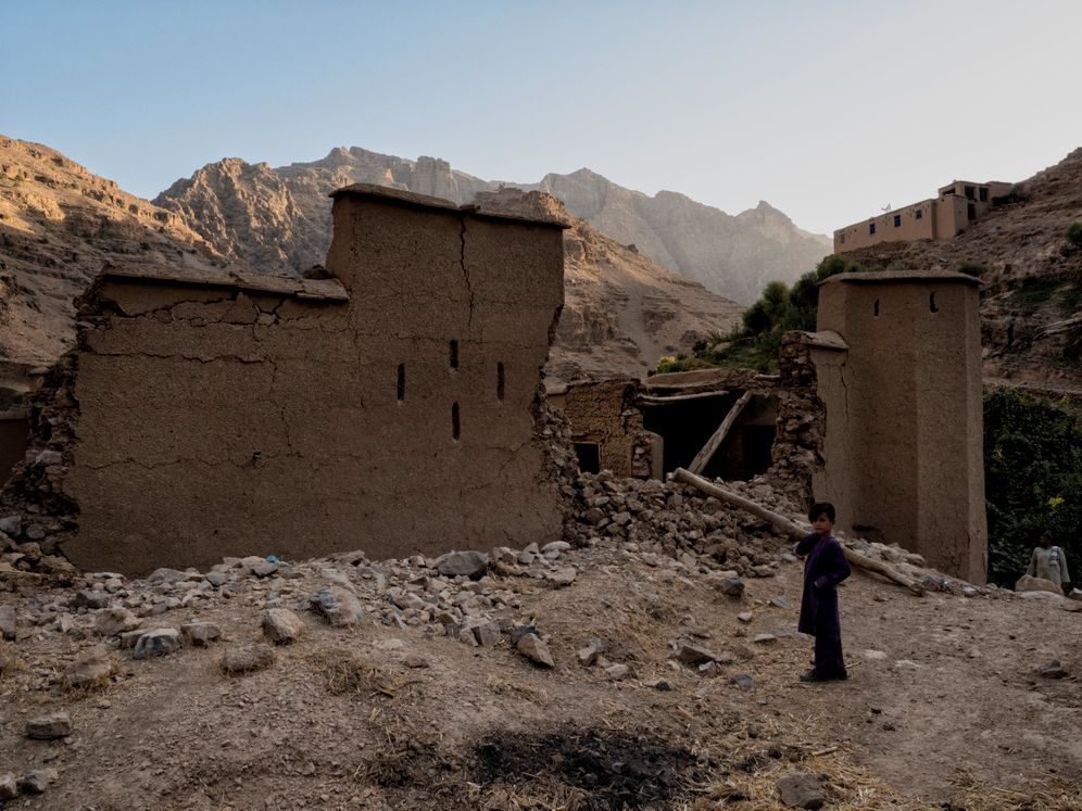 """A house in Tagabdar, destroyed by the Taliban: """"Nobody was ever particularly concerned about us."""""""