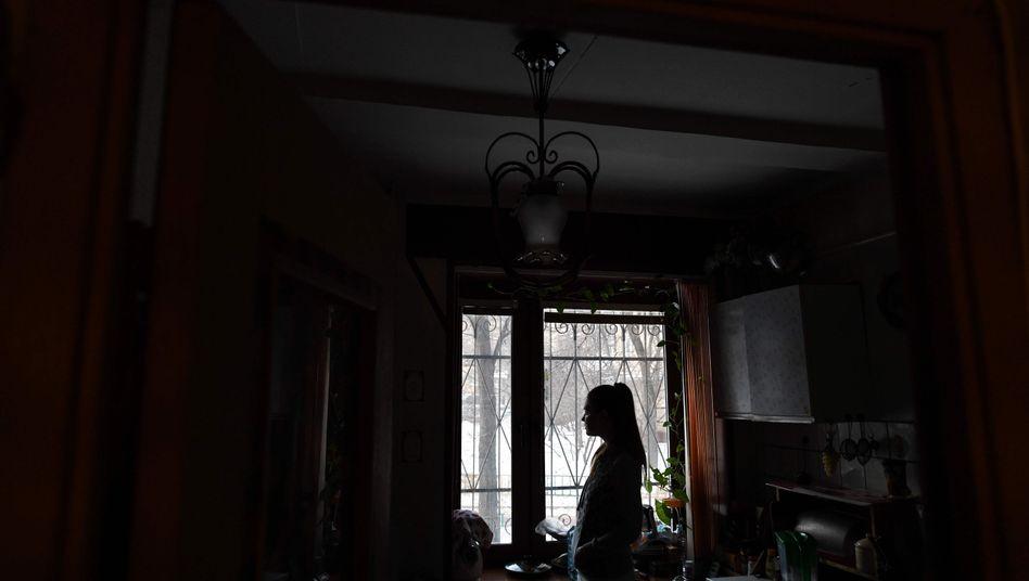 Opfer häuslicher Gewalt in Moskau