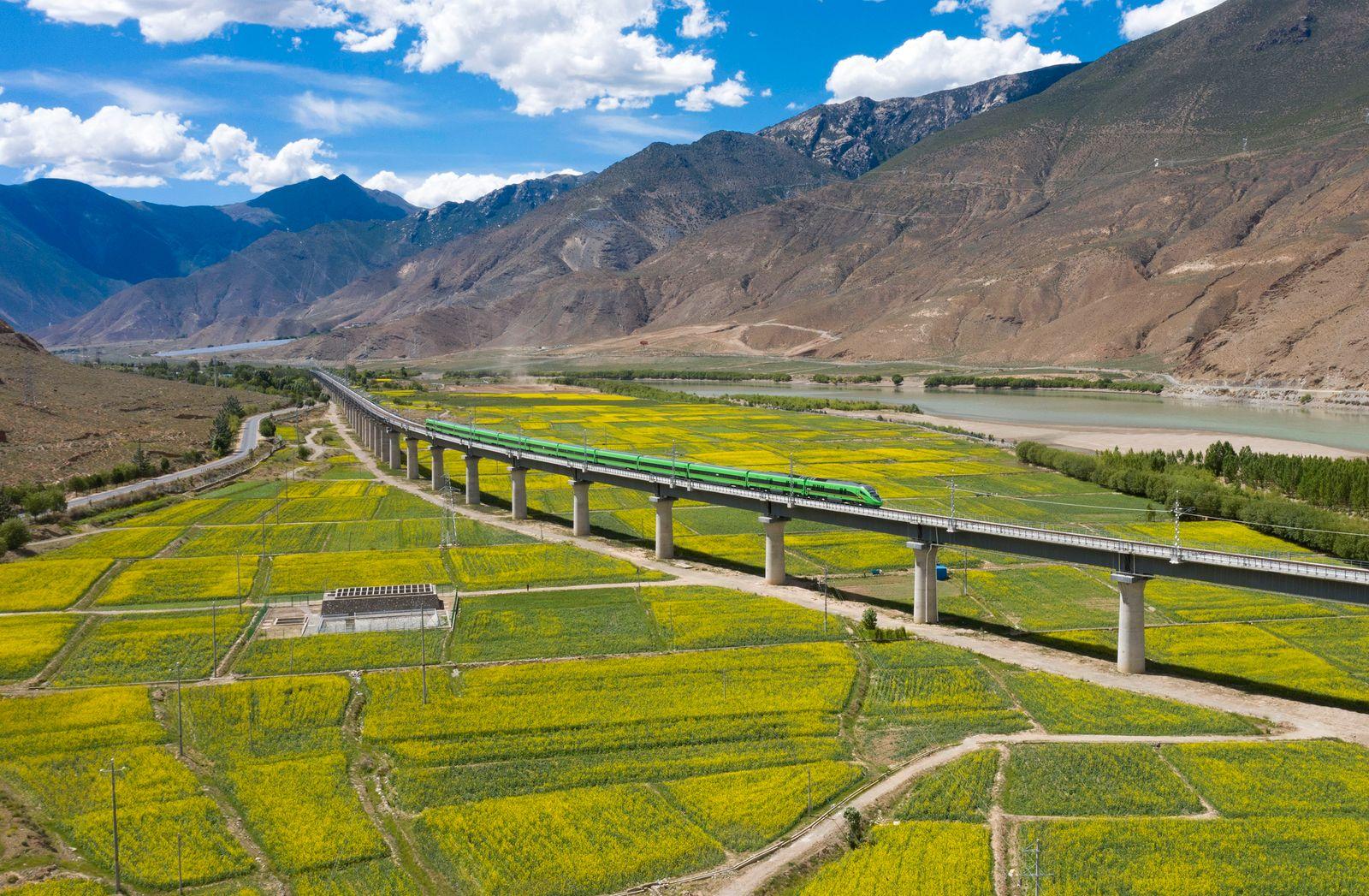 Lhasa-Nyingchi Railway Opens To Traffic In Tibet
