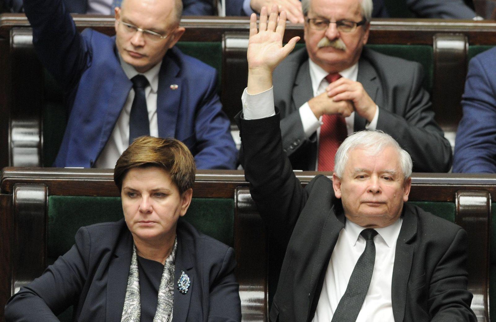 Jaroslaw Kaczynski, Beata Szydlo / Polen
