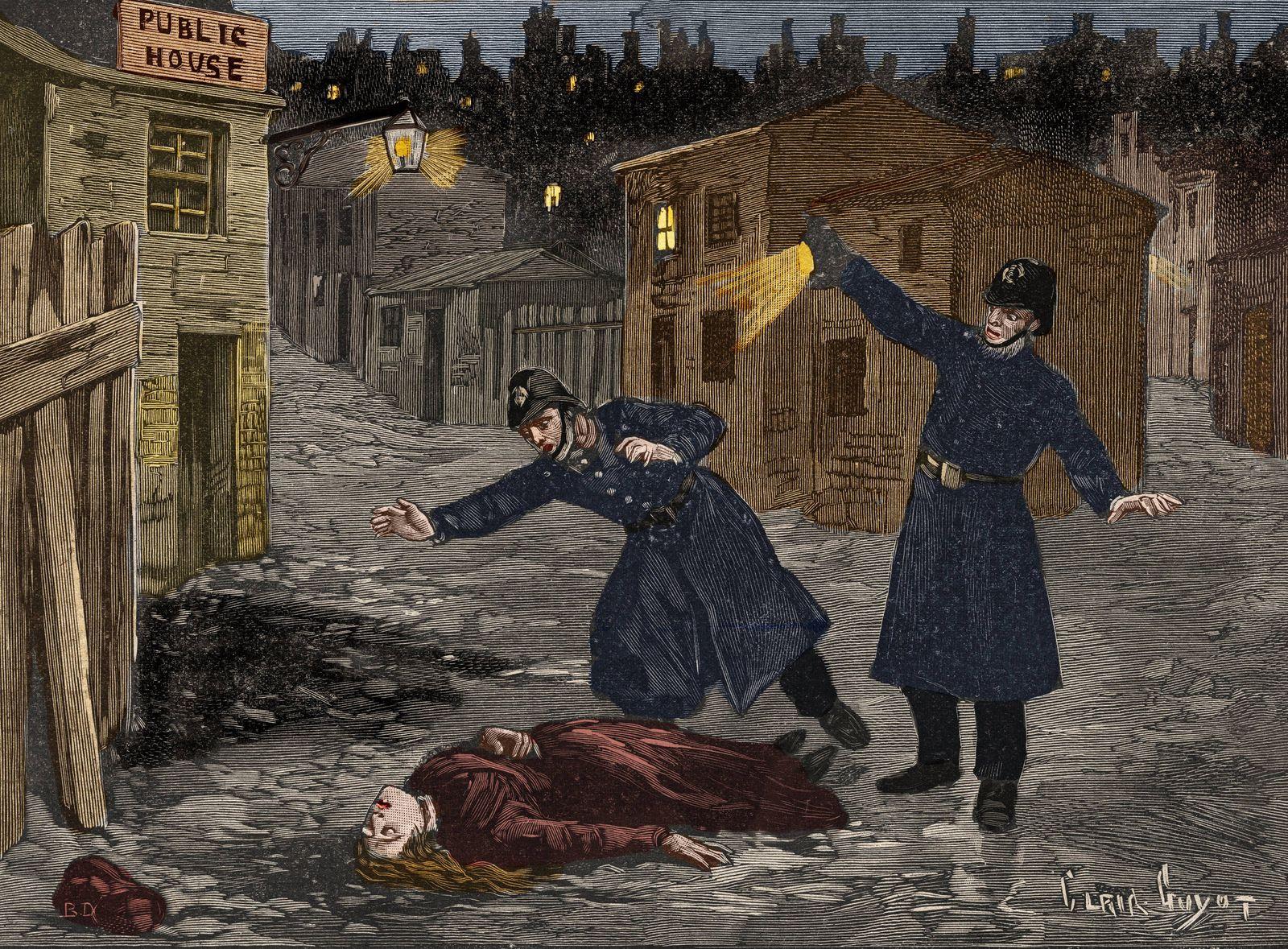 A street in Whitechapel the last crime of Jack the Ripper Crime de Whitechapel a Londres 1888 af