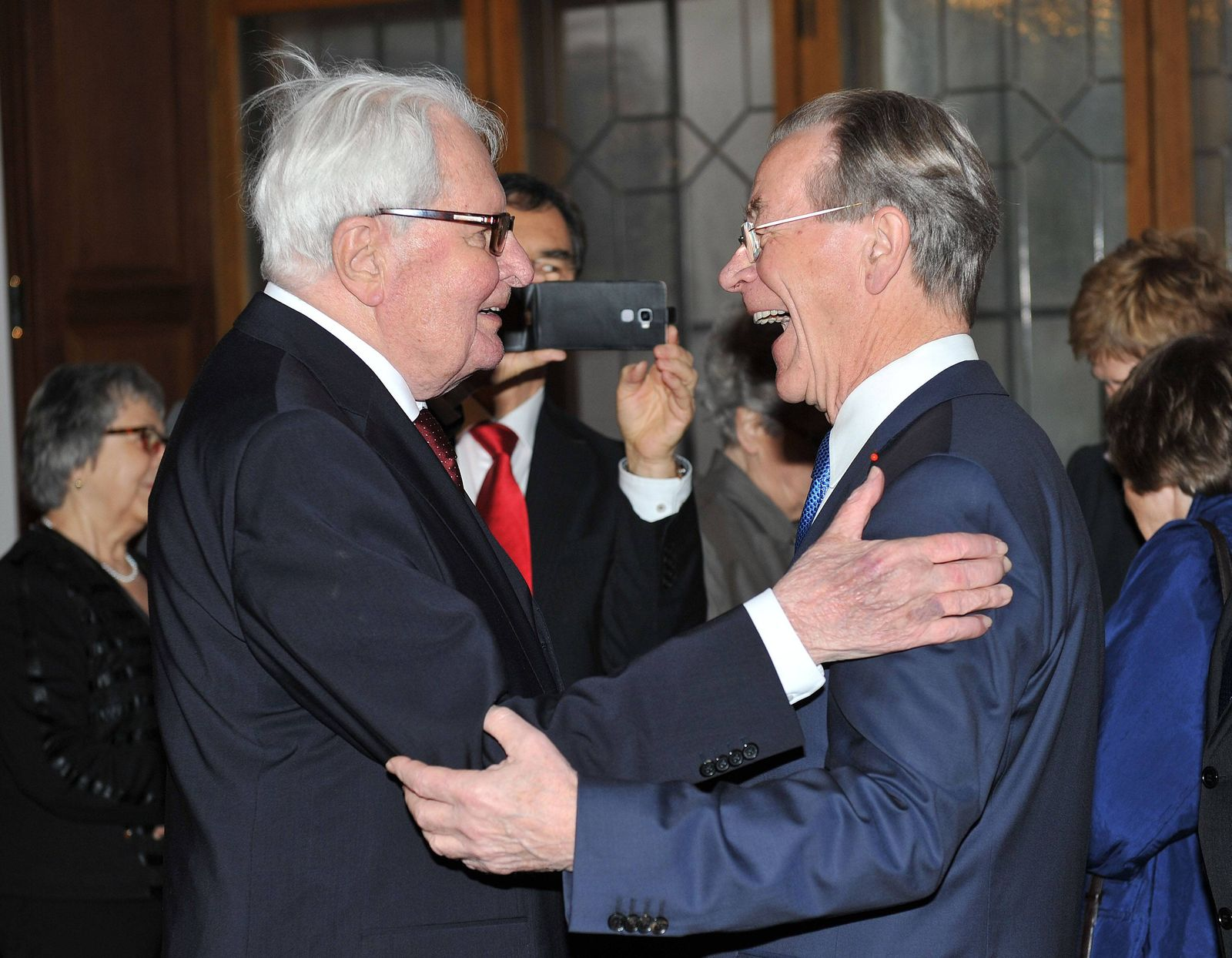 Festakt zum 90 Geburtstag von Hans Jochgen Vogel im Alten Rathaus M¸nchen Hans Jochen Vogel und Fra