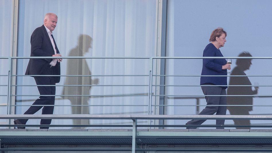 Innenminister Horst Seehofer (CSU) und Kanzlerin Angela Merkel (CDU)