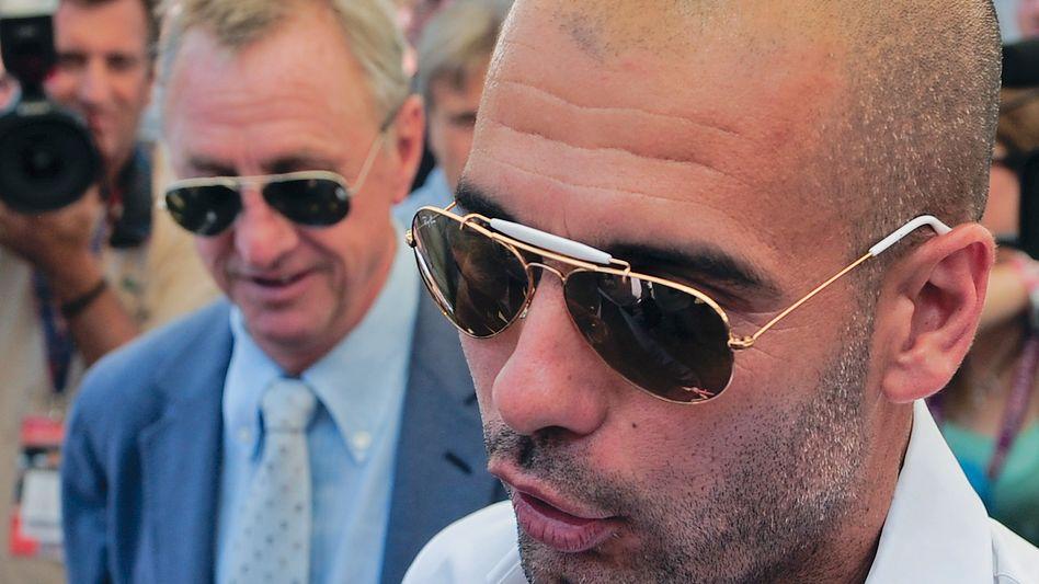 Bayern-Trainer Guardiola (r., 2010), Cruyff: Mit alten Bekannten nach München