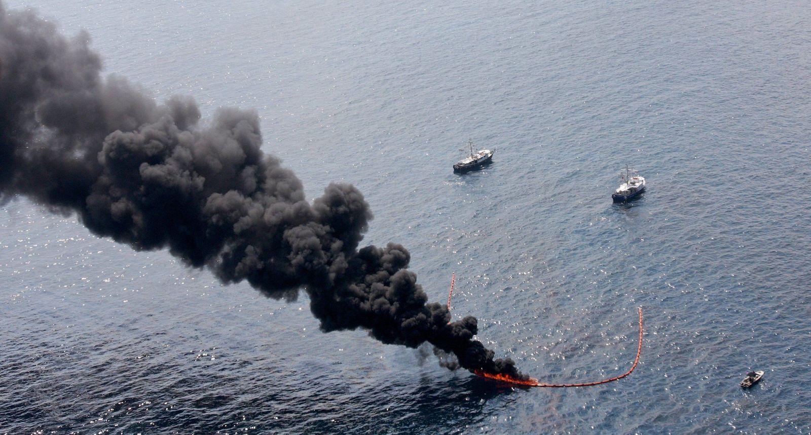 Druck auf BP immer stärker - Öl wird abgefackelt