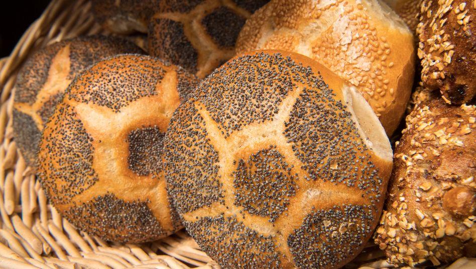 Brötchen in einer Bäckerei (Symbolbild)