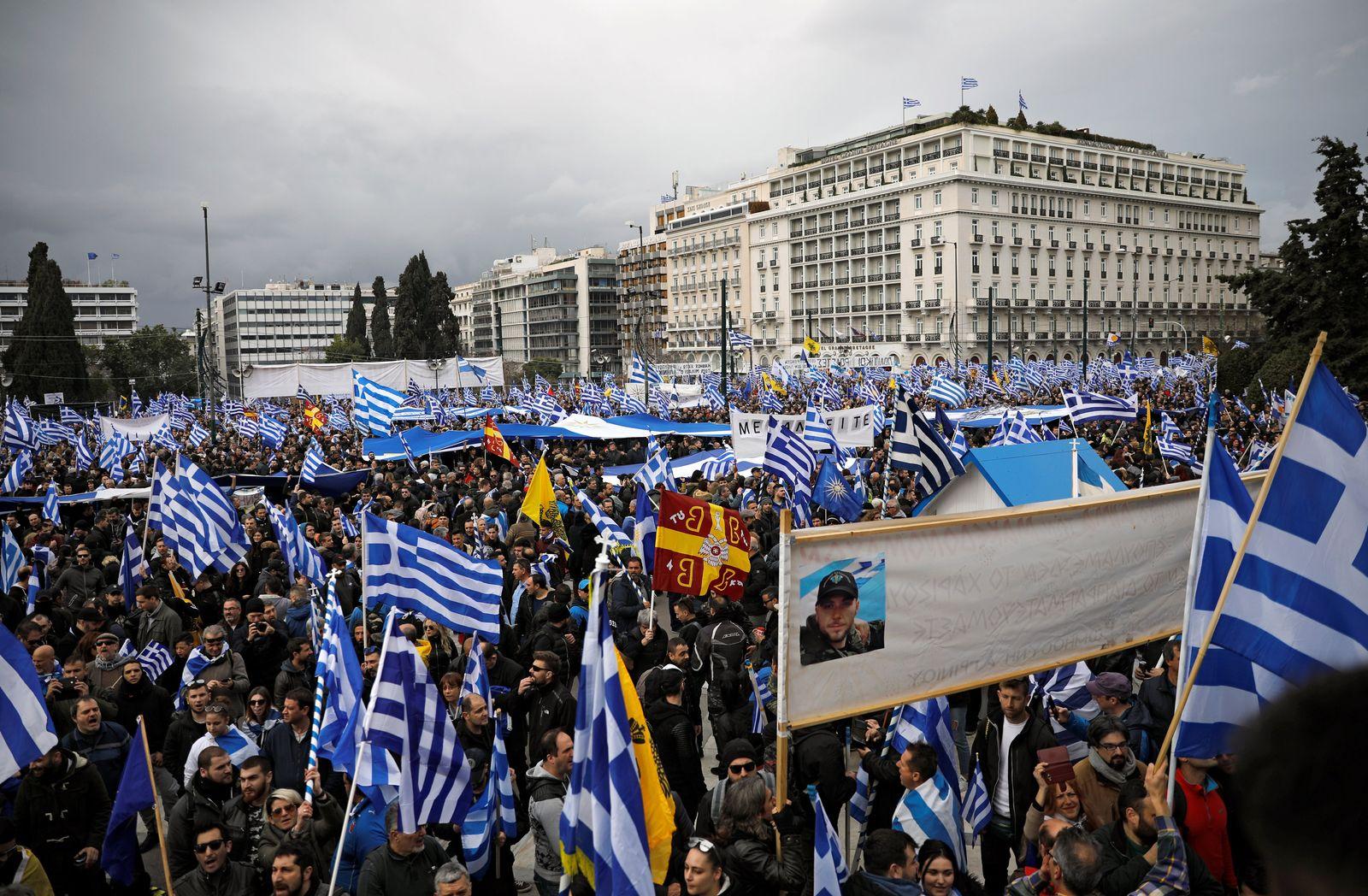 Athen/ Griechenland/ Demo/ Mazedonien