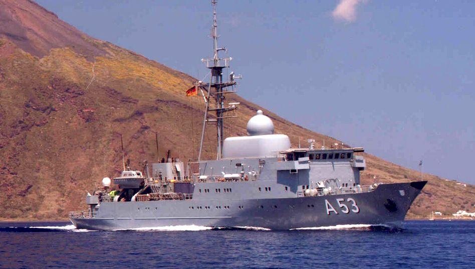 """Flottendienstboot """"Oker"""" (Archivbild): """"Stolz über den wichtigen Beitrag des BND"""""""