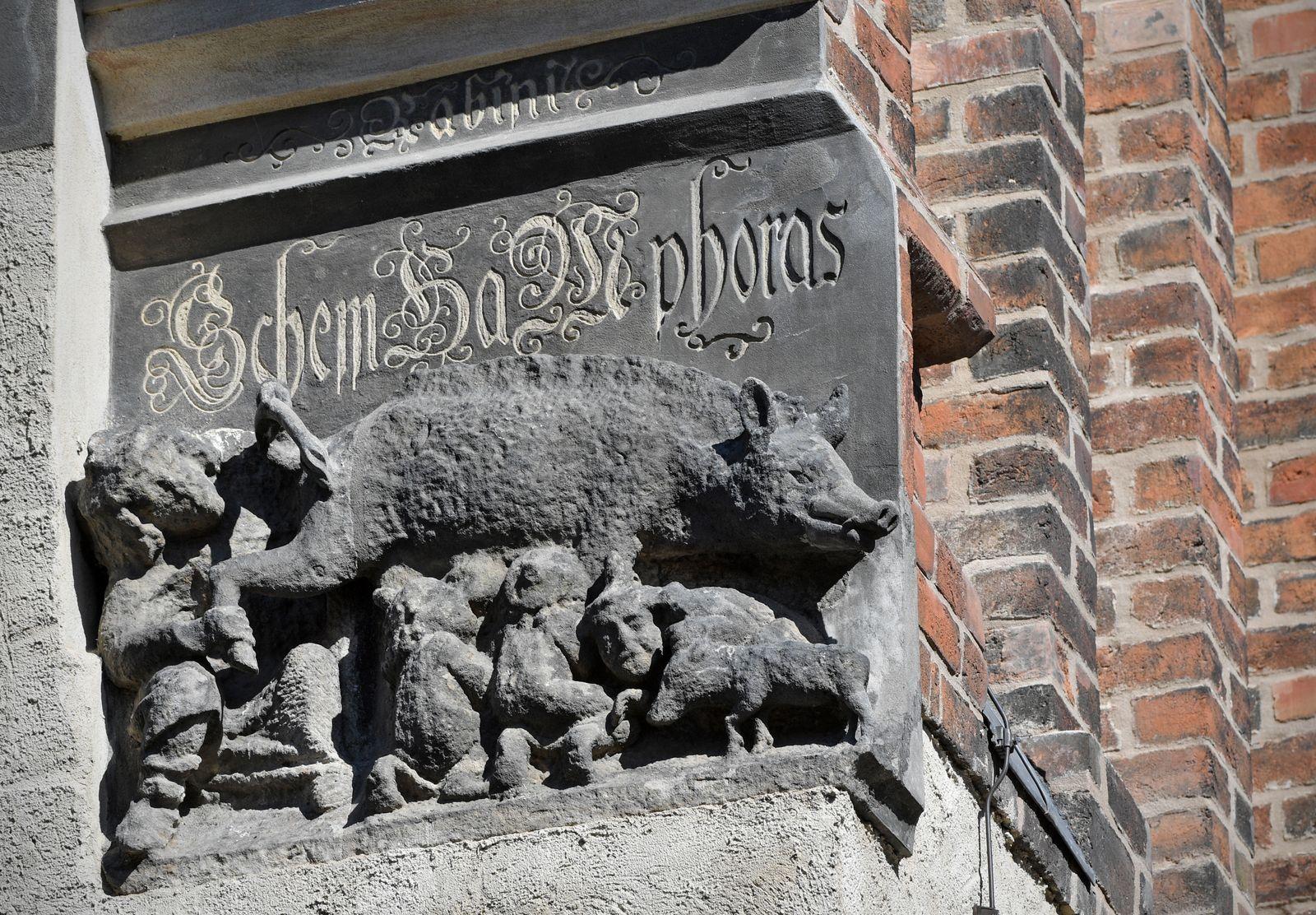 Wittenberg/ Judensau/ Luther Kirche