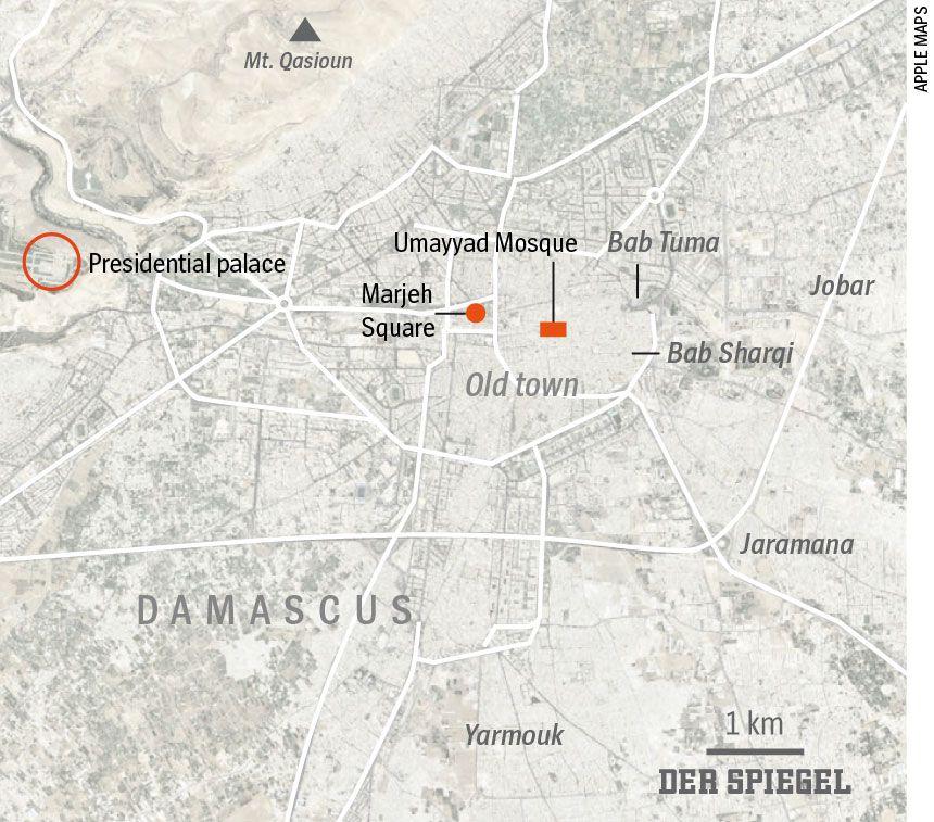 ENGLISCHE KARTE - DER SPIEGEL 50/2016 Seite 102 Damascus