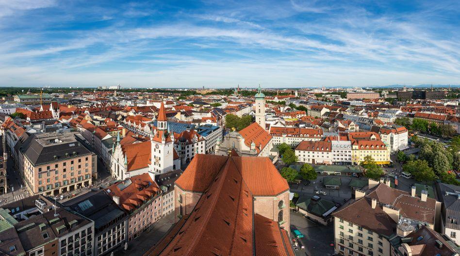 Blick über Münchner Innenstadt (Archivfoto)