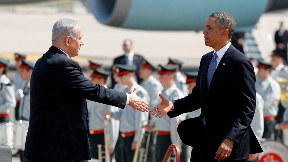 Eher unterkühltes Verhältnis: Israels Netanyahu, US-Präsident Obama