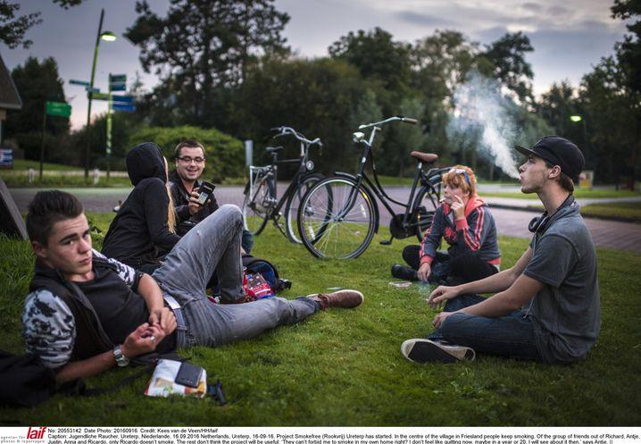Jugendliche Raucher in den Niederlanden