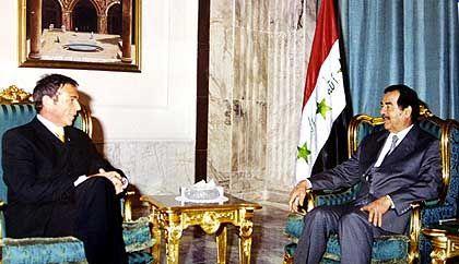 Haider im Februar 2002 in Bagdad: Original oder Fälschung?