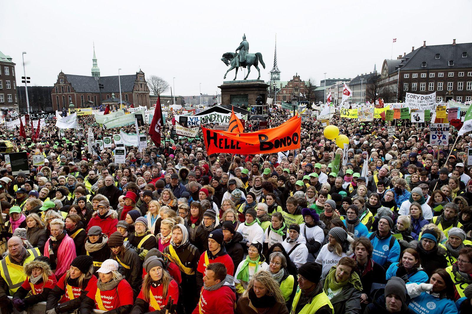 Dänemark / Lehrer-Protest