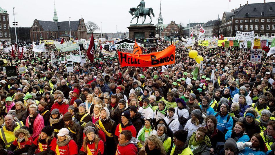 Lehrer-Demo in Dänemark: Wochenlang fiel der Unterricht aus