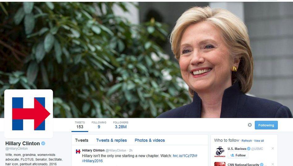 """Clintons Twitter-Seite: """"Rechts geht's zum Krankenhaus"""""""
