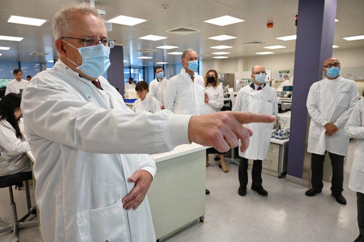 Australiens Premierminister Scott Morrison plädiert für eine verpflichtende Impfung