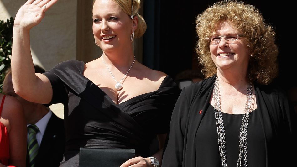 Katharina Wagner (left), with her half-sister Eva Wagner-Pasquier with whom she shares directorship of the Bayreuth opera festival, has welcomed the Israel Chamber Orchestra's decision to play a piece by Richard Wagner during the 2011 festival.