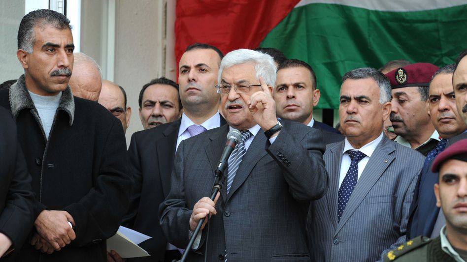 Palästinenserpräsident Abbas (in Ramallah): Mission Umstimmung im New Yorker Hotel