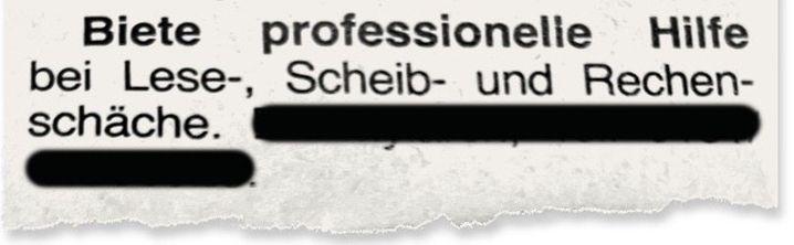 Anzeige in den »Gundelfinger Nachrichten«