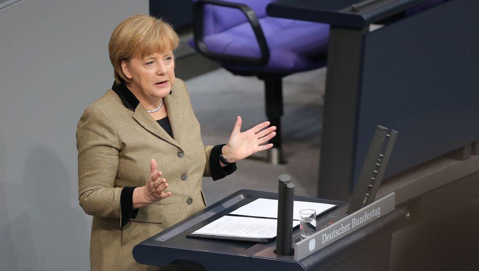 Merkel in der Generaldebatte: Sich selbst ein hervorragendes Zeugnis ausgestellt