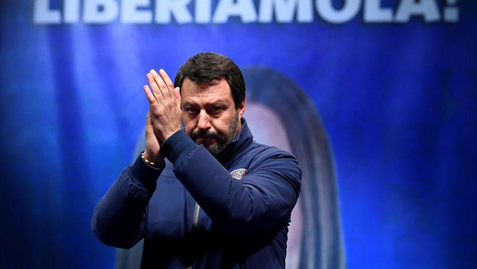 Lega-Chef Matteo Salvini beim Wahlkampf in der Emilia Romagna