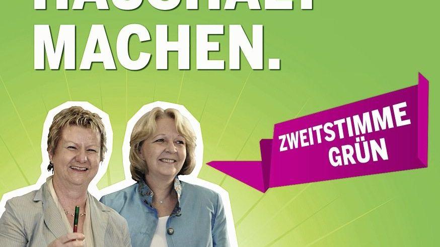 Wahlplakat mit strittiger Sprechblase