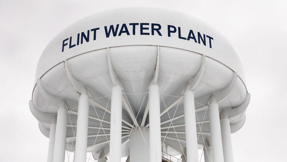 Wasserturm in Flint, Michigan