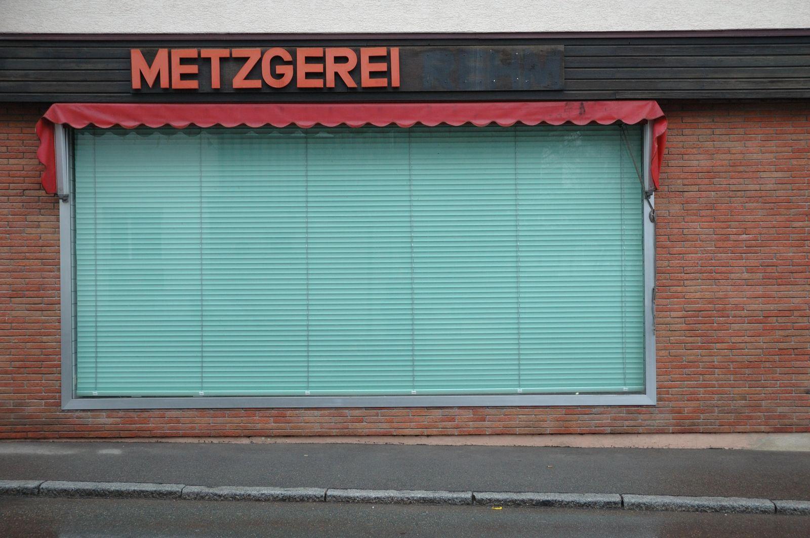 EINMALIGE VERWENDUNG Metzgerei/Schließung