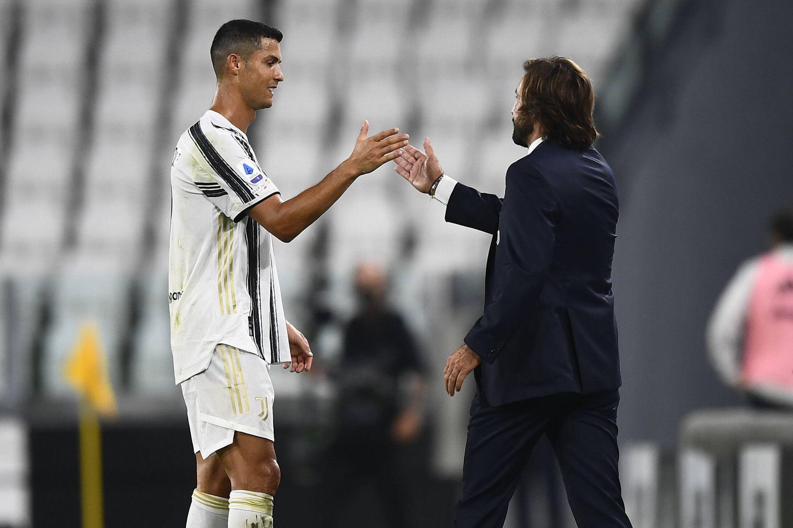 Torino 20/09/2020 - campionato di calcio serie A / Juventus-Sampdoria / foto Image nella foto: Andrea Pirlo-Cristiano Ro