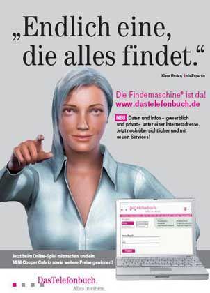 Telefonbuch-Werbung mit Klara Finden: Romero lässt grüßen