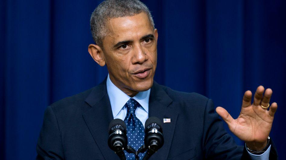 """US-Präsident Obama: """"Menschen in der Welt blicken auf uns, damit wir führen"""""""