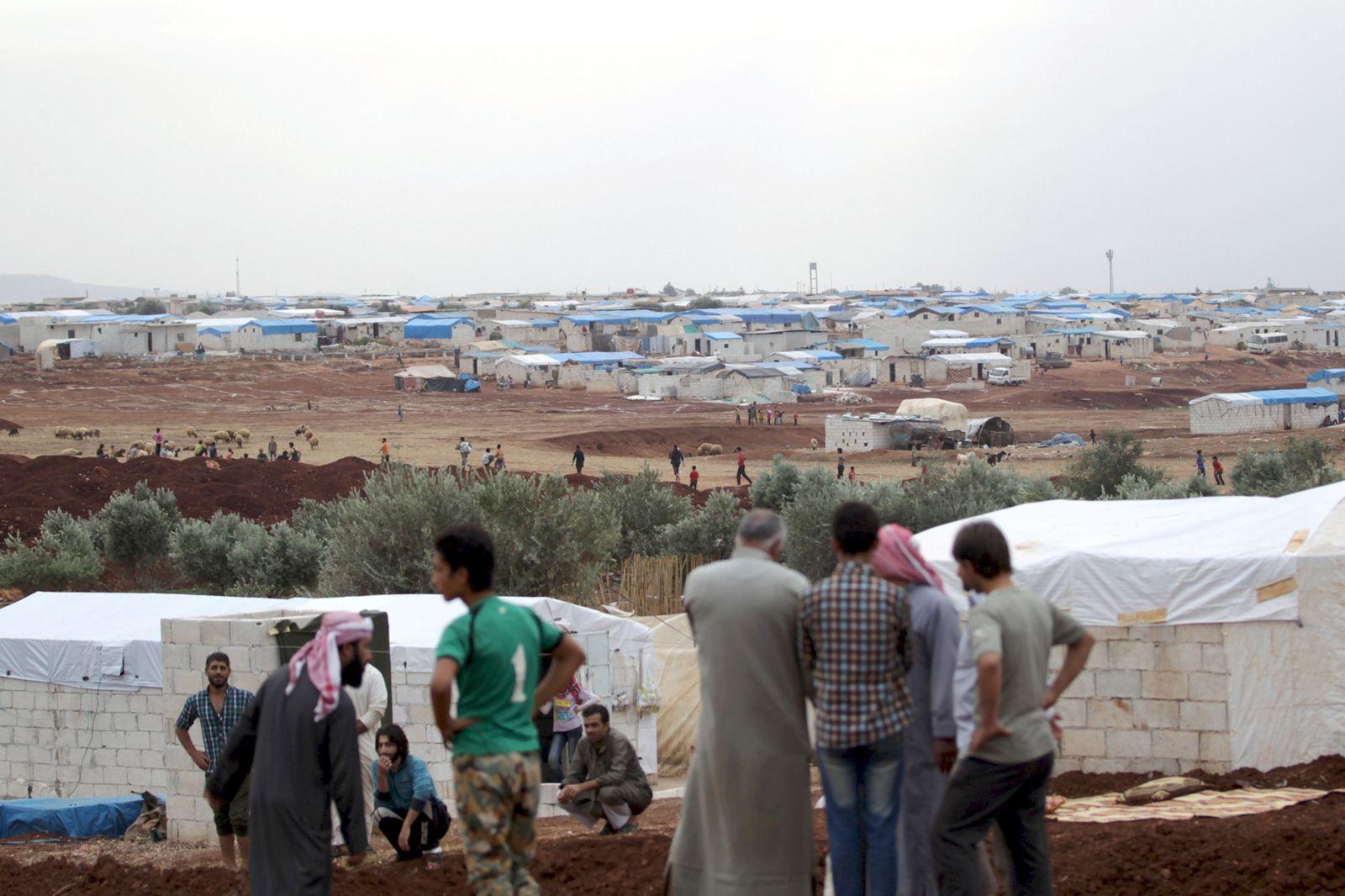 Syrien / Türkische Grenze / Idlib / Flüchtlinge