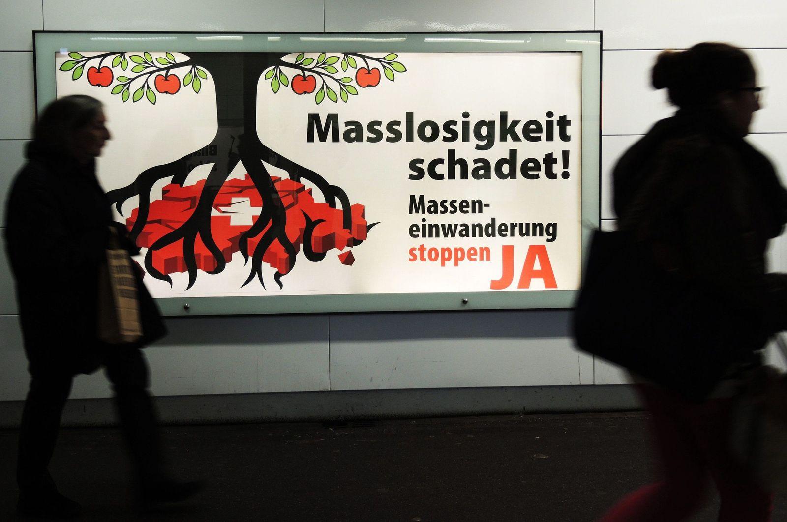 Schweiz / Abstimmung Masseneinwanderung