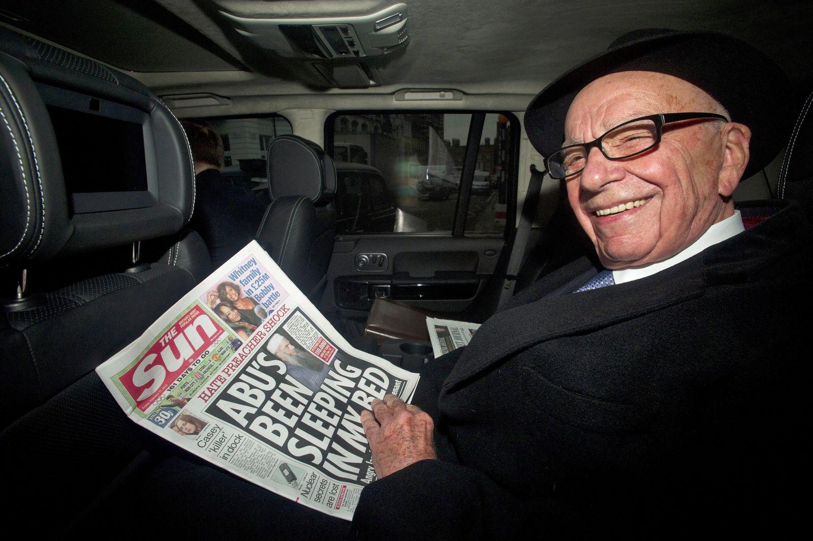 Rupert Murdoch mit Sun