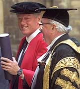 Oxford-Ehrendoktor Bill Clinton: Auch seine Tochter Chelsea studiert an der berühmten Uni