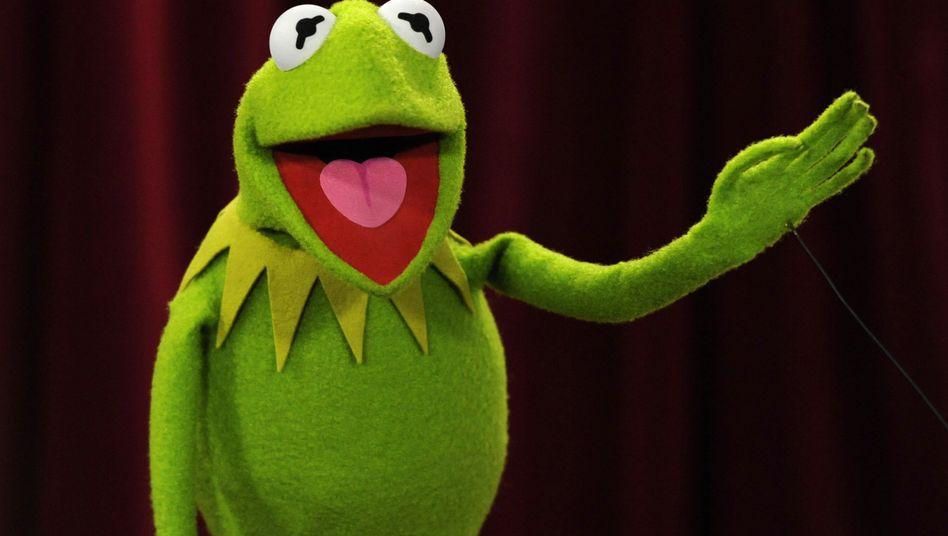 """Seitdem bekannt wurde, dass Goldman Sachs-Banker ihre Kunden als """"Muppets"""" bezeichnen, wird Bankchef Lloyd Blankfein gern als Kermit karikiert"""