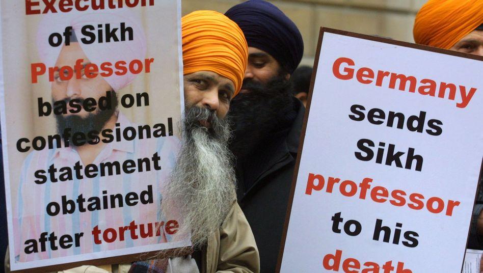 Protest gegen Todesstrafe für Bhullar (Archivbild): 500 Todeskandidaten in Indien