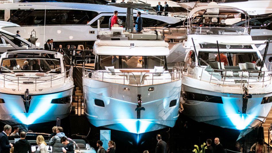 """Luxusjachten bei der """"Boot Düsseldorf 2020"""""""