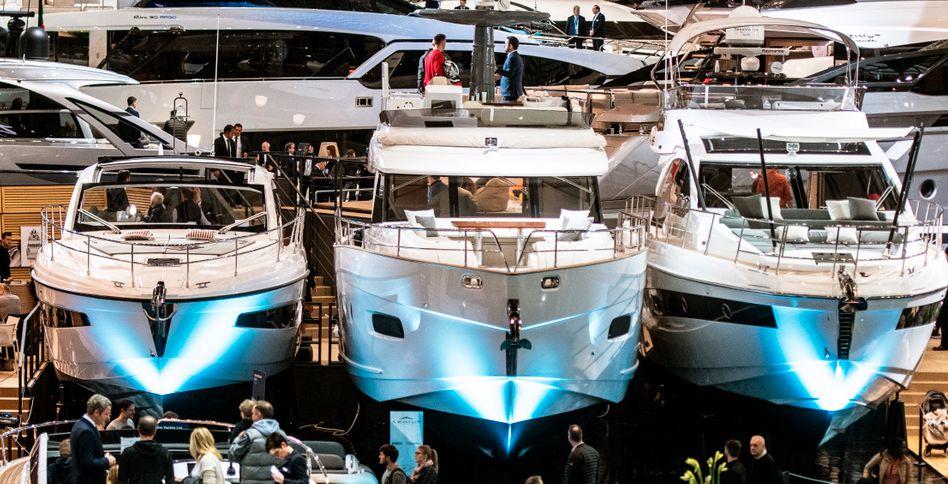 Luxusjachten bei der »Boot Düsseldorf 2020«