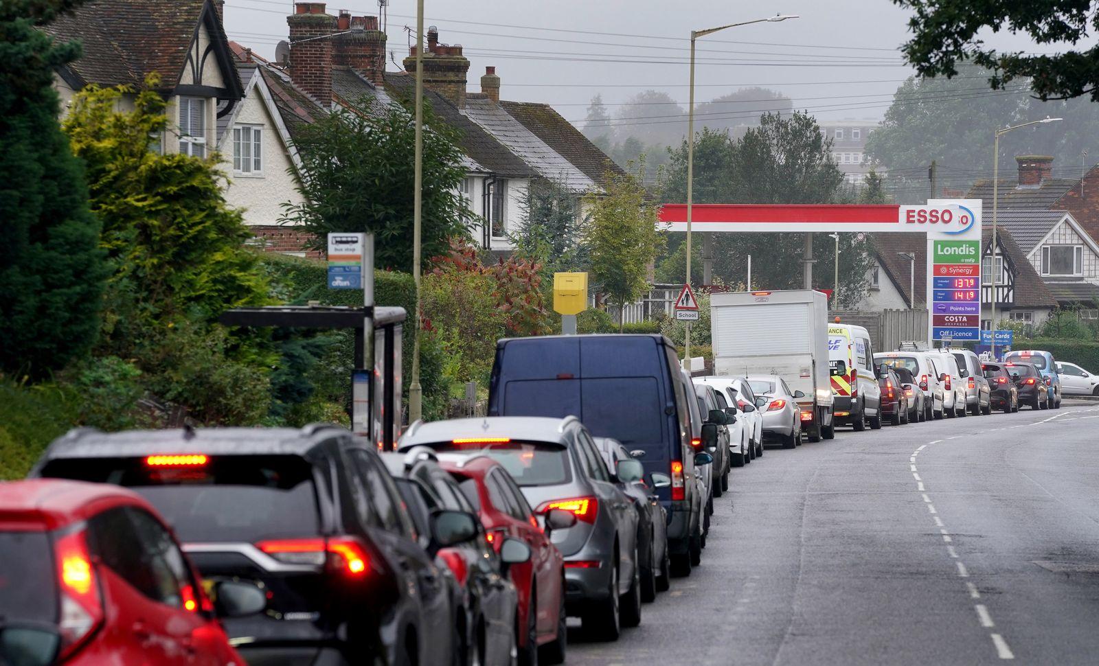 Mangel an Lkw-Fahrern in Großbritannien