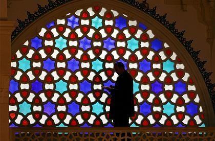 Inside the Sehitlik Mosque in Berlin.