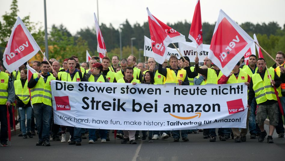 Amazon-Beschäftigte in Bad Hersfeld: Streiken für einen Tarifvertrag