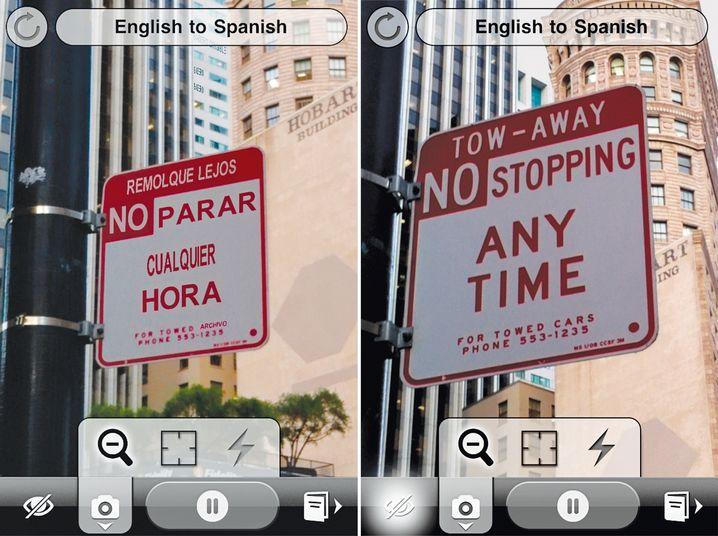 """No parar - nix verstehen? Die App """"Word Lens"""" hilft beim Übersetzen"""