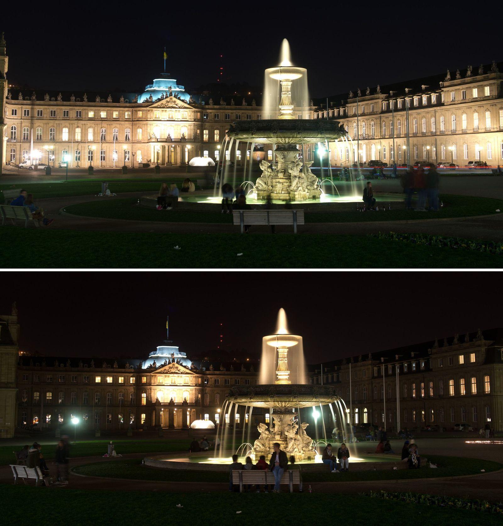 """""""Earth Hour"""" in Stuttgart"""
