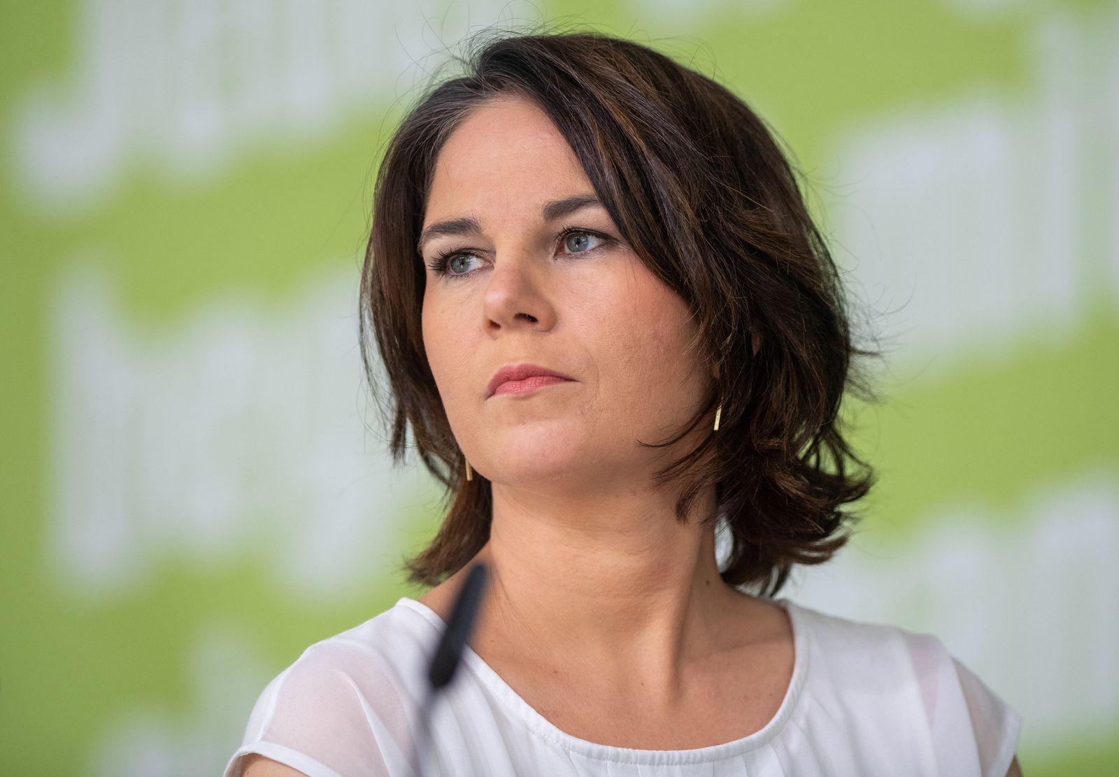 Digitale Pressekonferenz mit Grünen-Kanzlerkandidatin