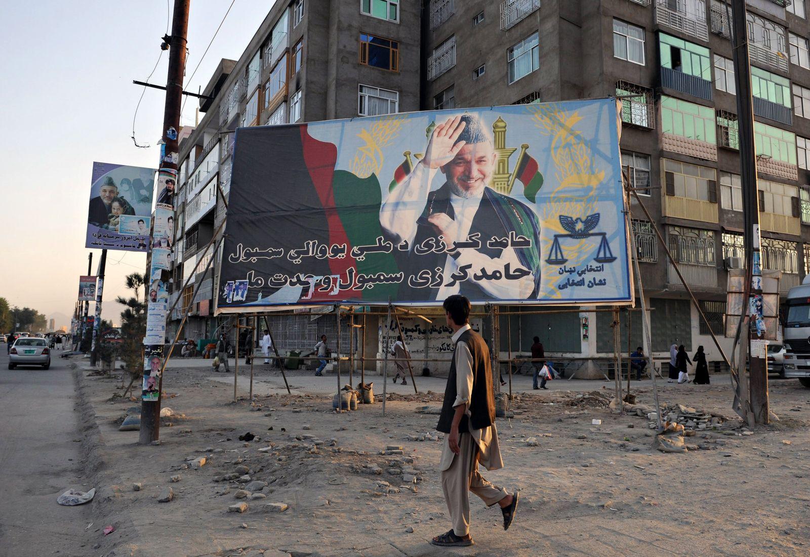 Afghanistan / Karzai-Plakat