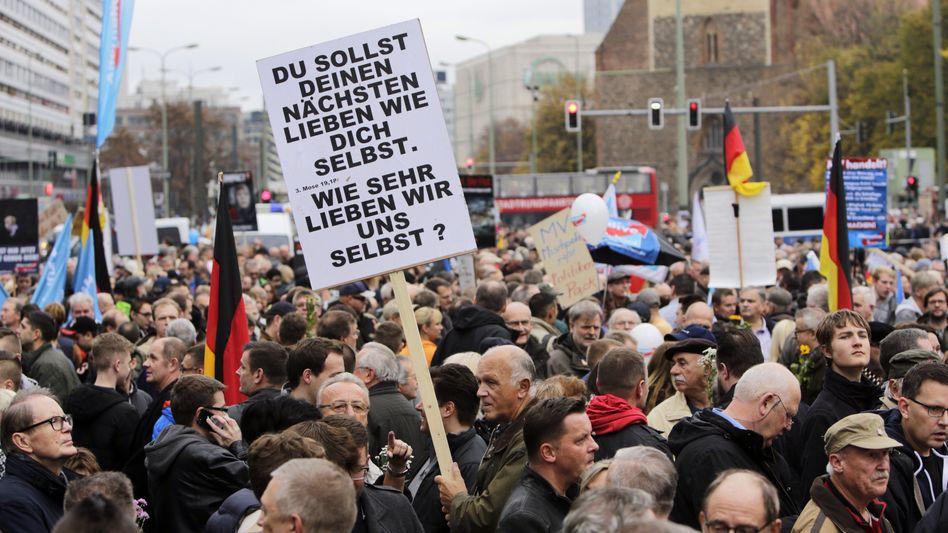 AfD-Unterstützer in Berlin